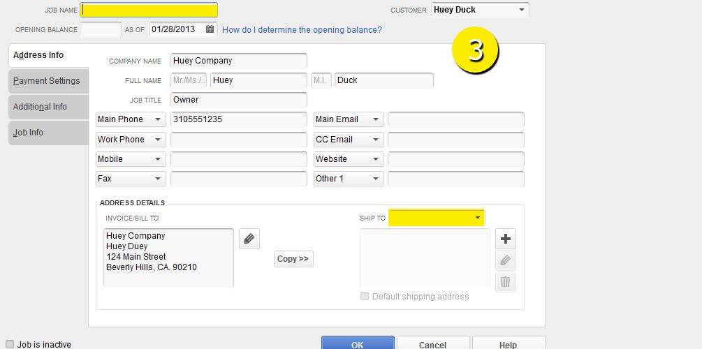 L8 - Create A New Job - Step 3 - Job Name and Address