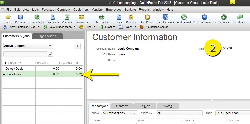 L12 - Merge Customer - Step 2 - Select - Free QuickBooks Tutorials