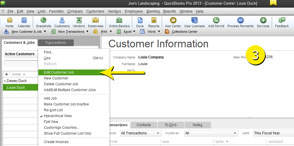 L12 - Merge Customer - Step 3 - Edit - Free QuickBooks Tutorials
