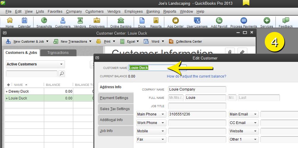 L12 - Merge Customer - Step 4 - Enter Name - Free QuickBooks Tutorials