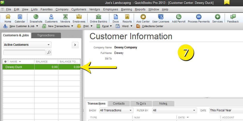 L12 - Merge Customer - Step 7 - Complete - Free QuickBooks Tutorials