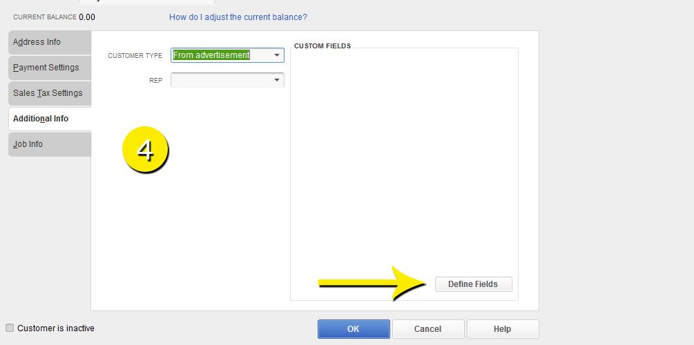 L19 - Custom Field - Step 4 - Define Fields - Free QuickBooks Tutorials