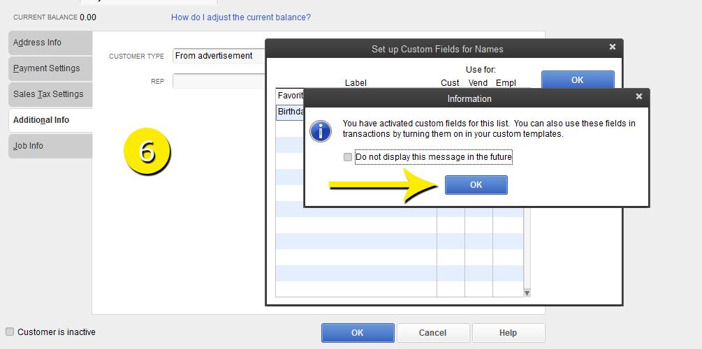 L19 - Custom Field - Step 6 - Confirm - Free QuickBooks Tutorials