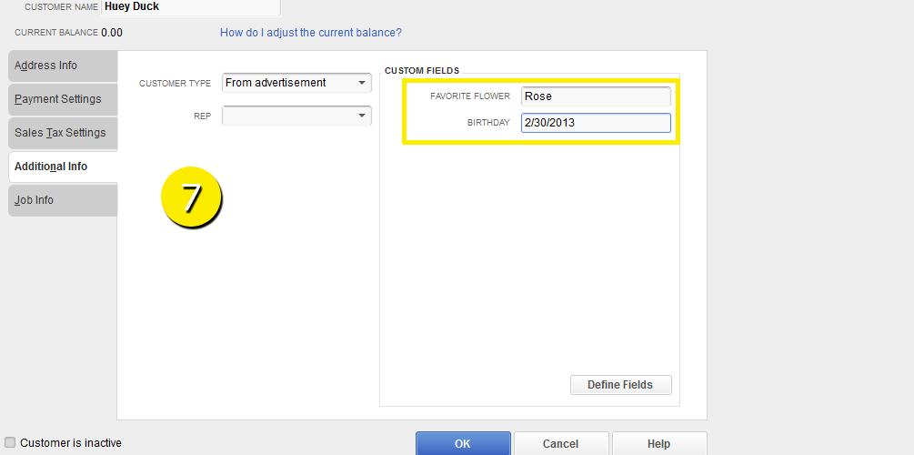 L19 - Custom Field - Step 7 - Added - Free QuickBooks Tutorials