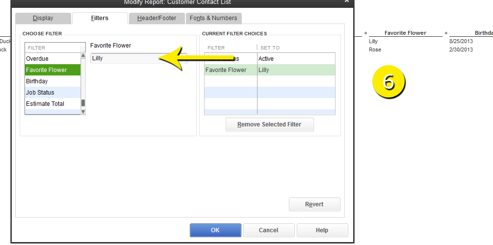 L2-10 - Custom Field Report - Step 6 - Select Field then Filter - Free QuickBooks Tutorials