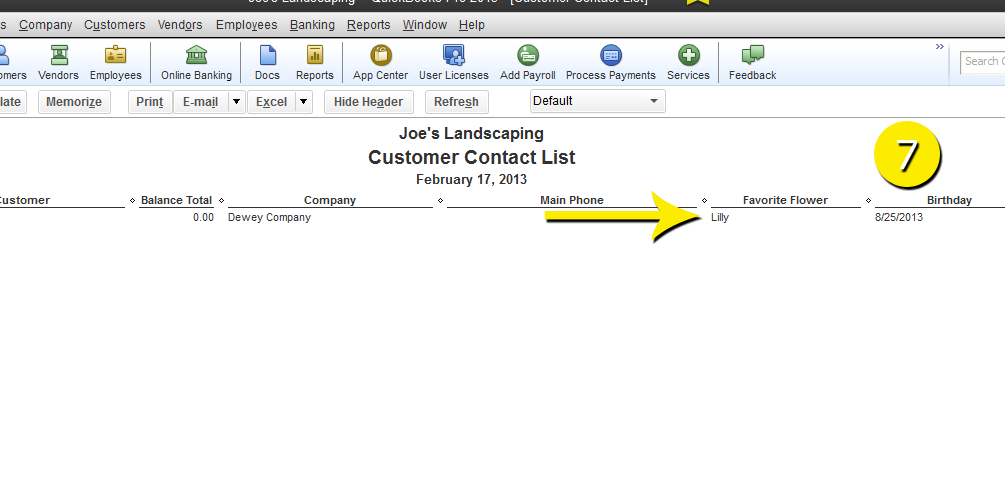 L2-10 - Custom Field Report - Step 7 - Filtered - Free QuickBooks Tutorials