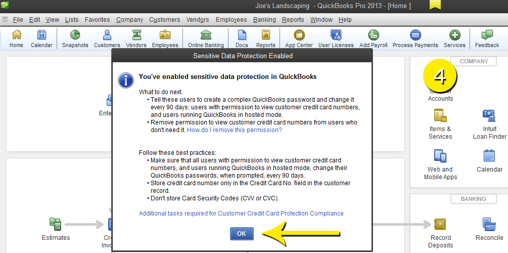 L2-11 - Credit Card - Step 4 - Confirm - Free QuickBooks Tutorials