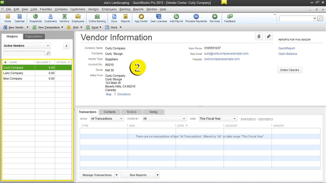 free quickbooks tutorials – customize the vendor center in quickbooks