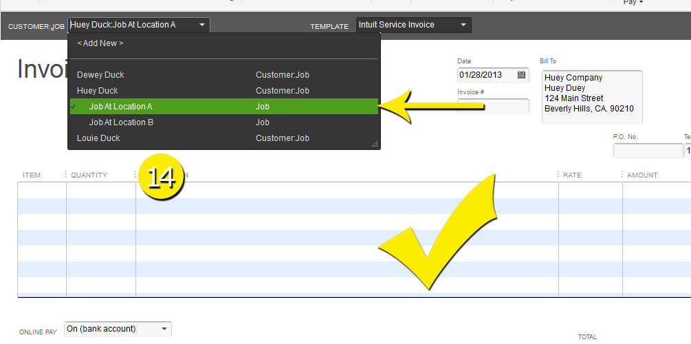 L8 - Create A New Job - Step 14 - Select Job In Invoice