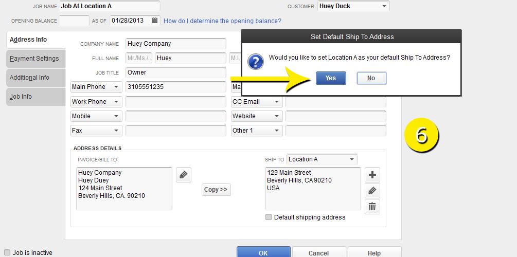 L8 - Create A New Job - Step 6 - Confirm Address